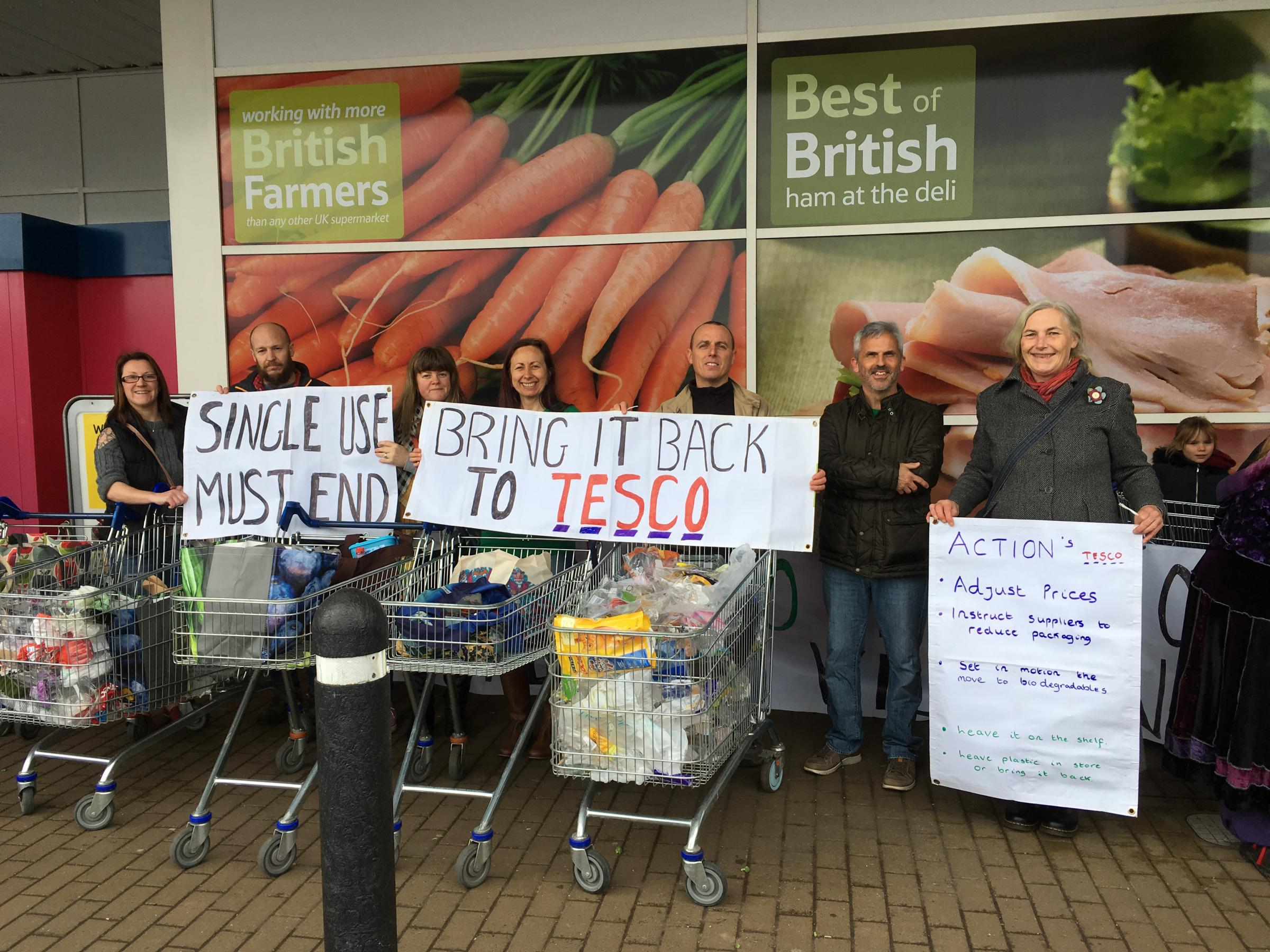 PLASTIC ATTACK: Chard environmental group's message to supermarkets