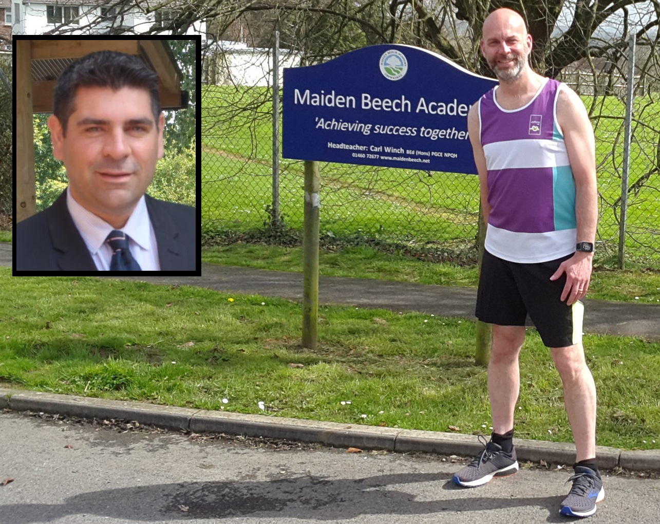 RUNNER: Carl Winch set to conquer London Marathon for David Carter one year after he died