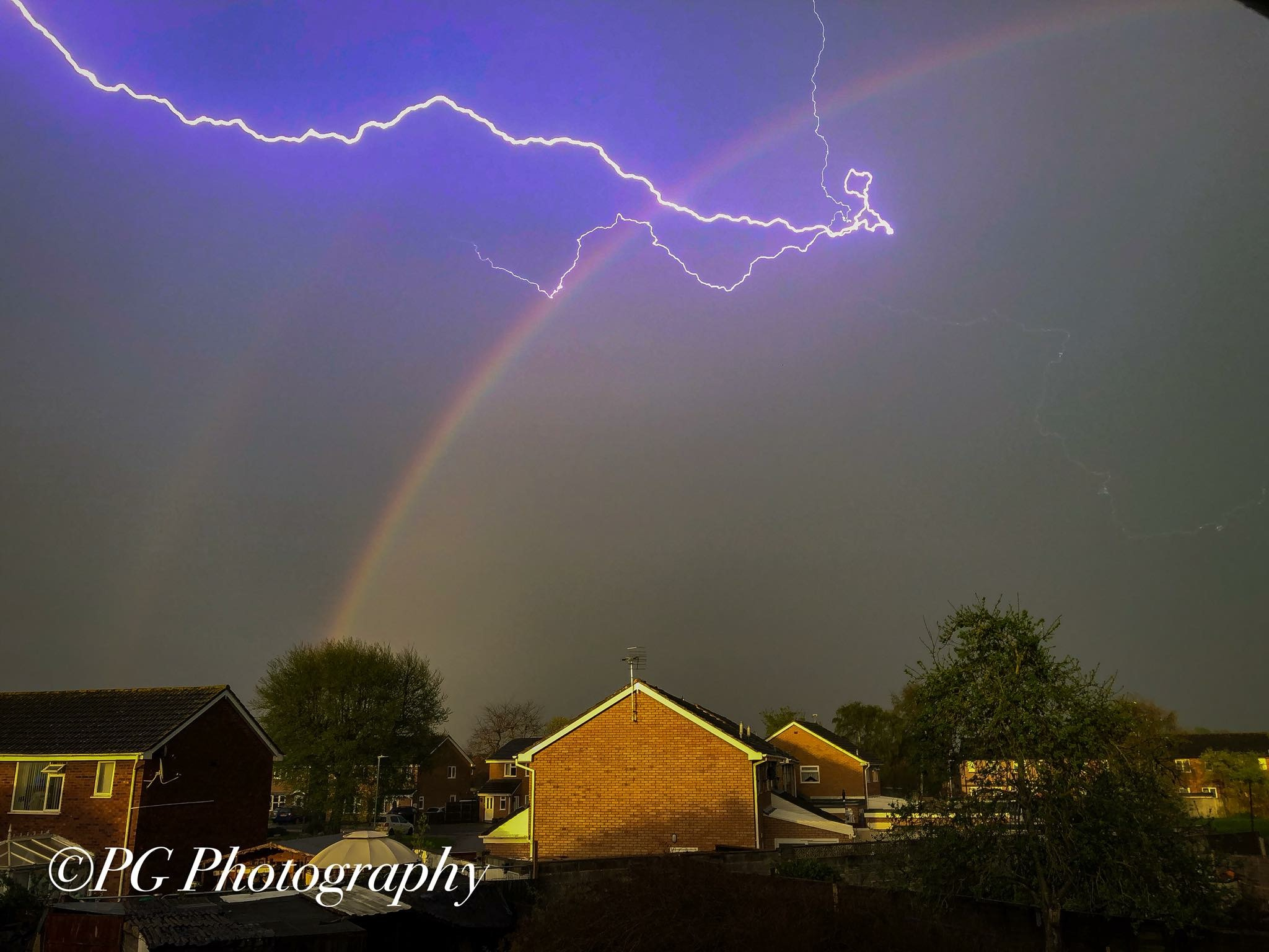 PICTURES: Thunder and lightning hit Somerset