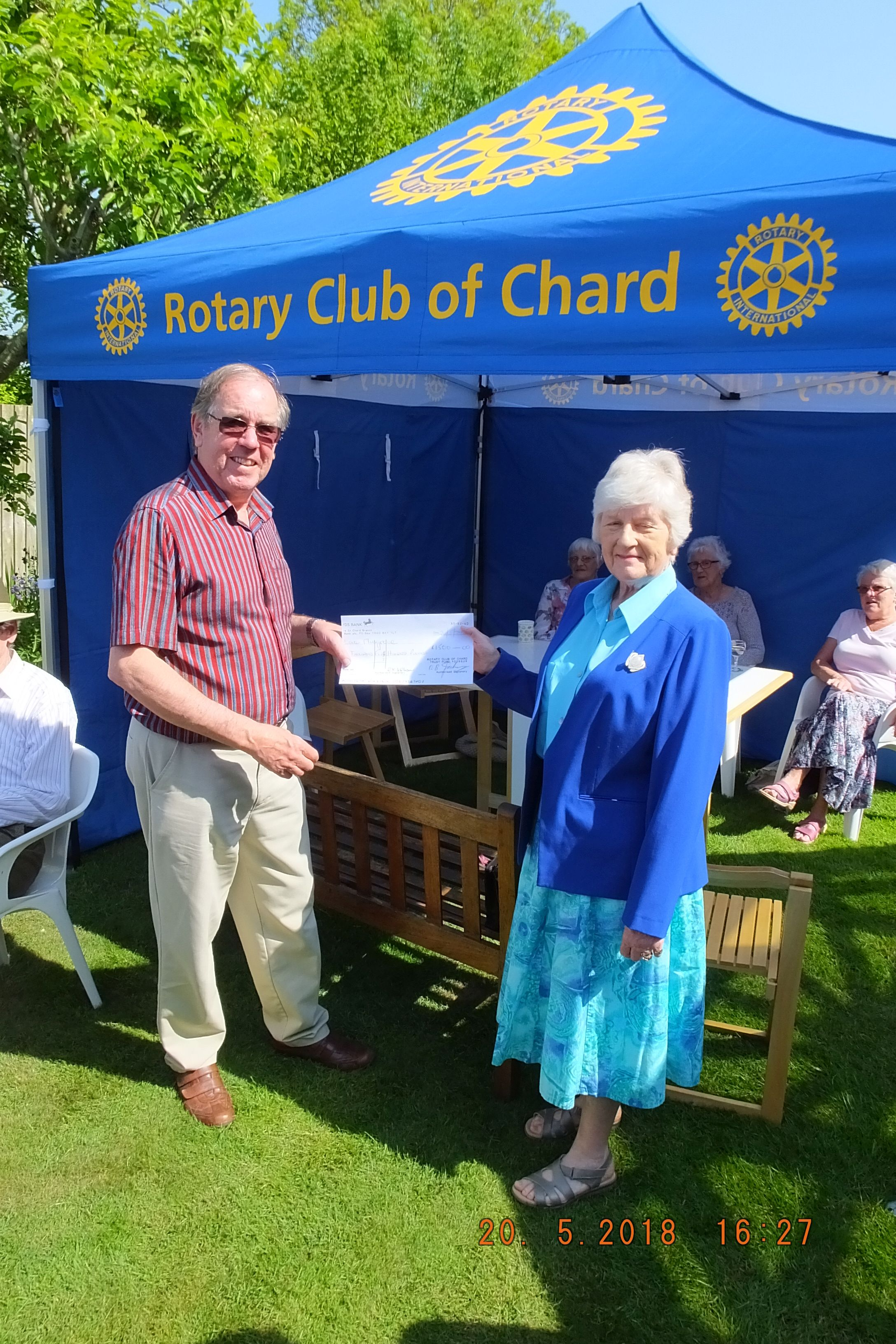 £1,500 boost for Musgrove MRI Appeal thanks to Chard Rotary fundraising