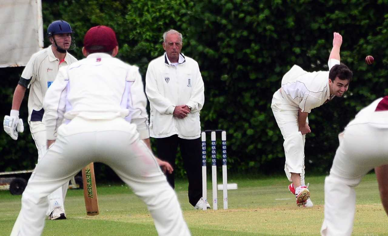 THREE WICKETS: Joshua Marshall-James in action for North Perrott against North Petherton. Pic: Steve Richardson