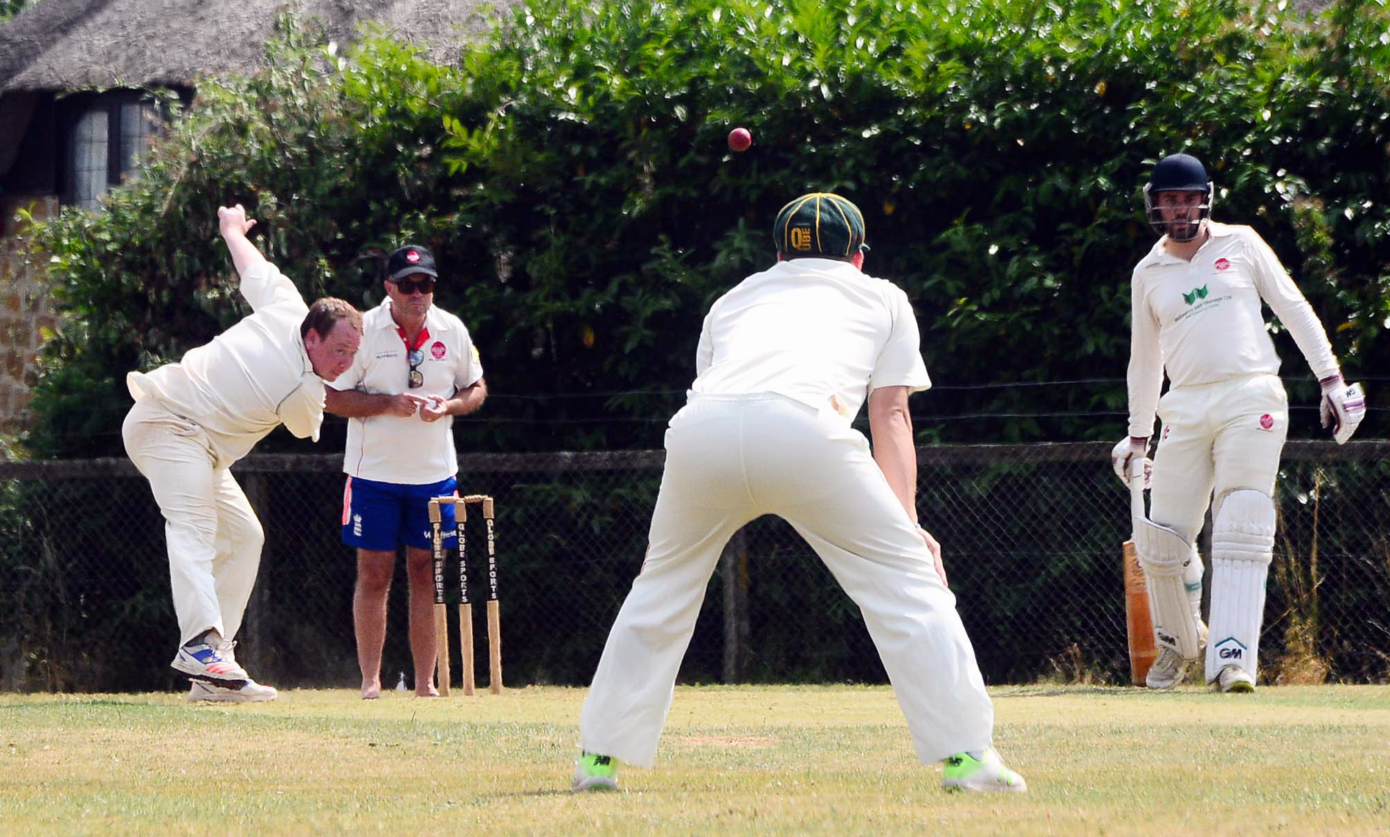 ALL-ROUNDER: Ilton's Rich Gower in action against Wellington 2nds on Saturday. Pic: Steve Richardson
