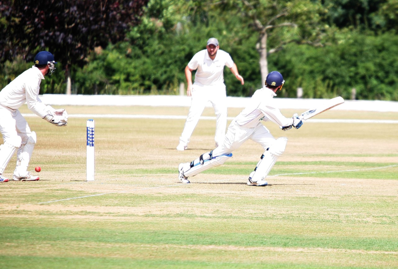 EXIT: Johnny Ireland hit 45 for North Perrott against Liphook and Ripsley in their National Village Cup quarter-final tie on Sunday, but Perrott lost by six wickets. Pic: Adrian Hopper