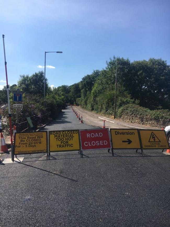EXTENDED CLOSURE: A section of the A30 Chard Road in Crewkerne will remain closed