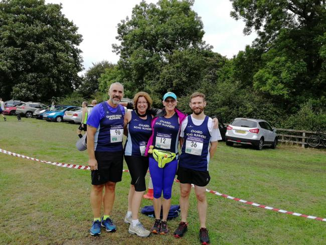 SQUAD: Chard Road Runners' Gary Wheaton, Claire Gibbs, Helen Baxter and Philip Goodridge-Reynolds.