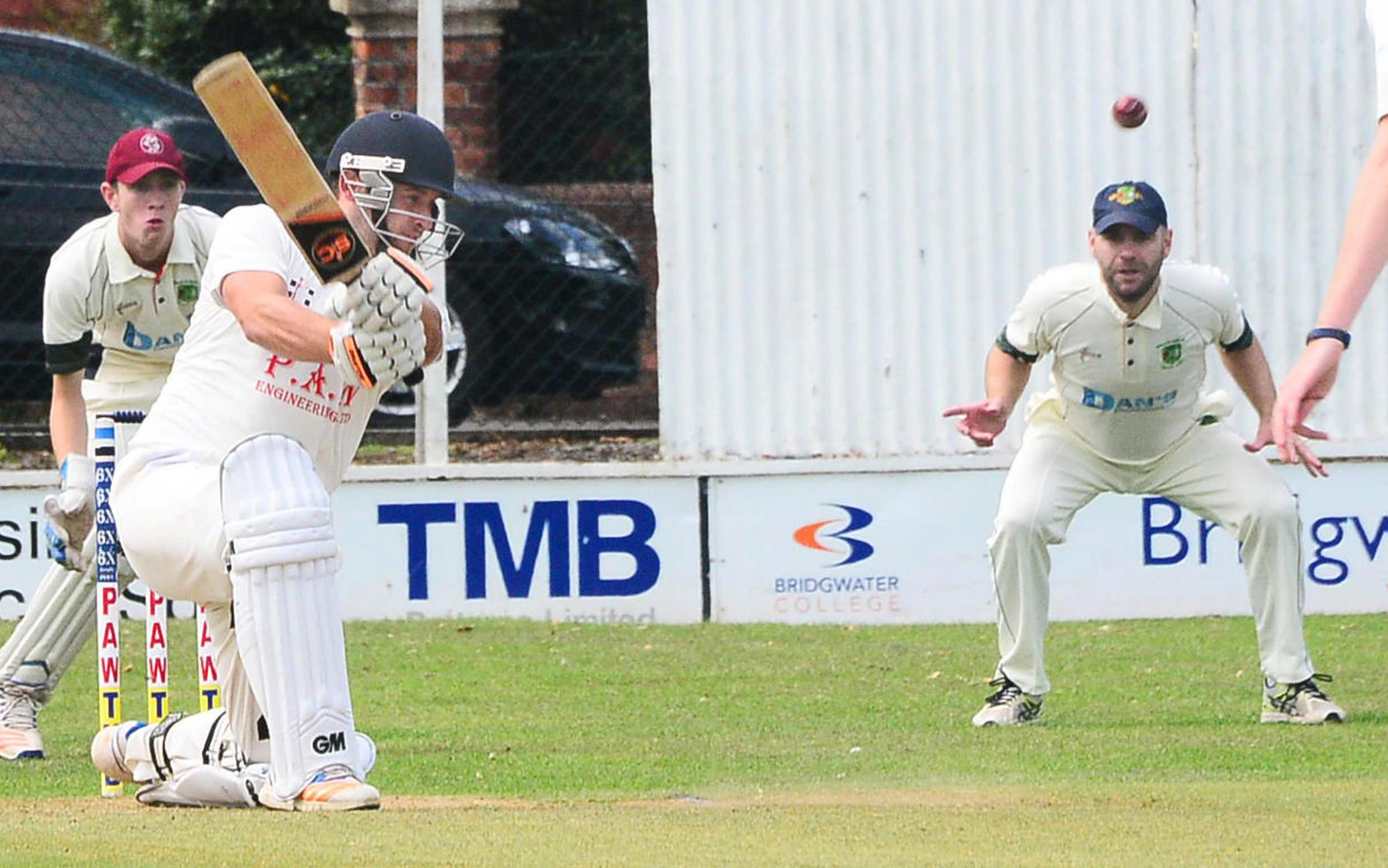TON UP: Tom Bellinger on his way to 155 for Bridgwater 2nds against North Petherton. Pic: Steve Richardson