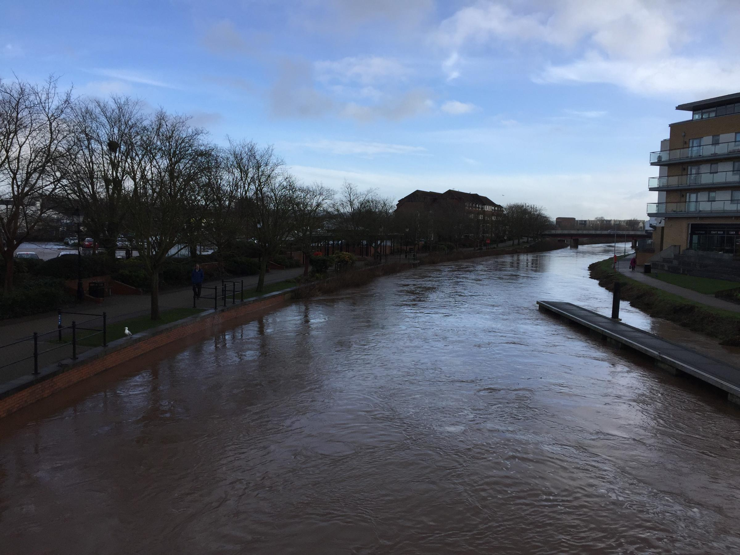 FLOOD PREVENTION: High water levels on the River Tone