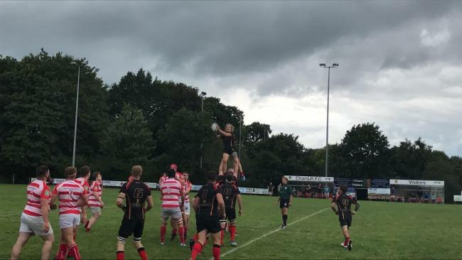 CLAIMED: Chard flanker Jason Wright winning the ball at the back of the lineout.