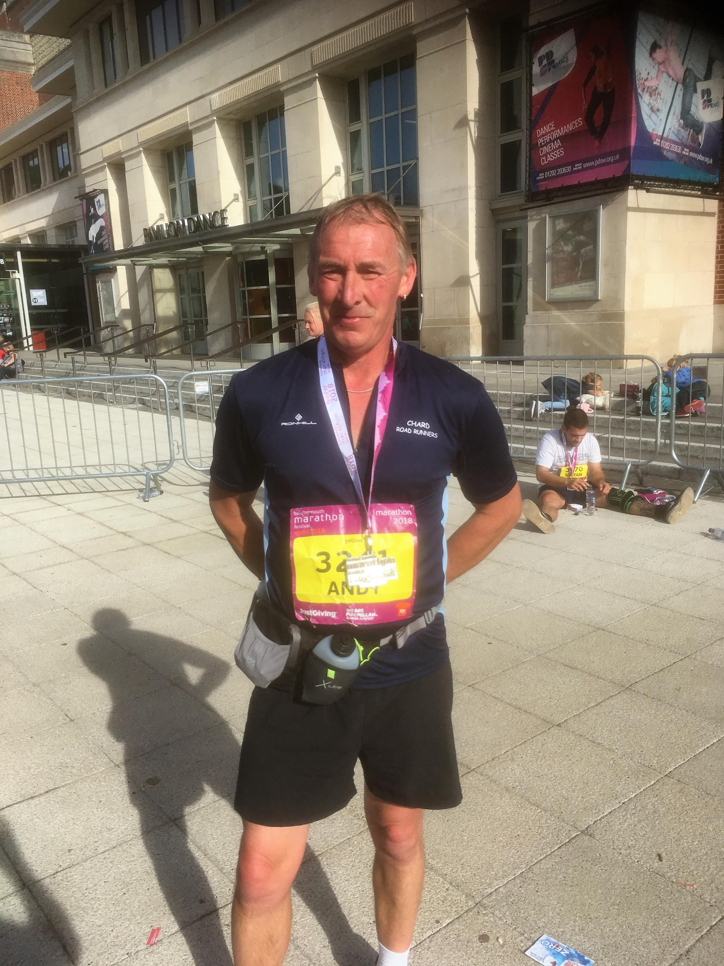MARATHON: Chard Road Runners' Andy Mear in Bournemouth.