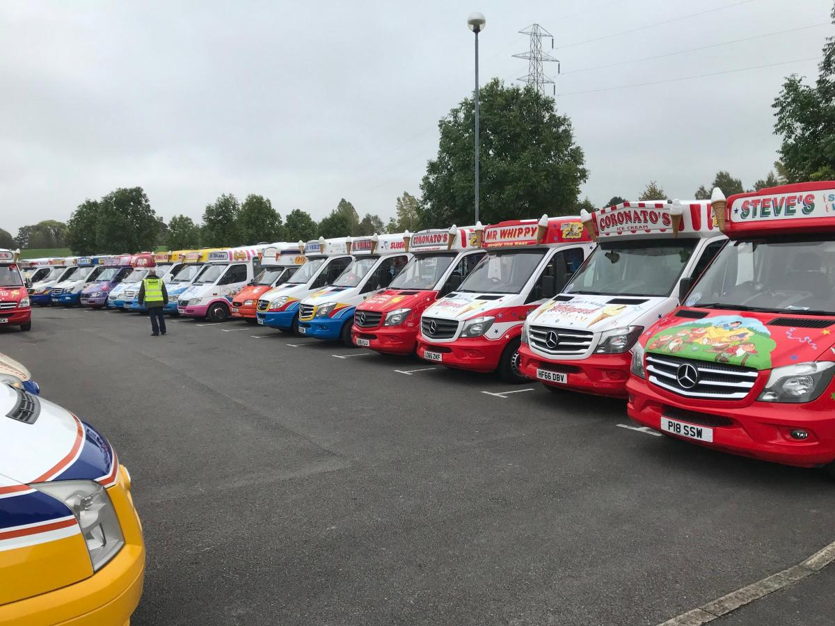 db2dcd0c68878c Ice cream van convoy breaks world record - with help from Chard trader