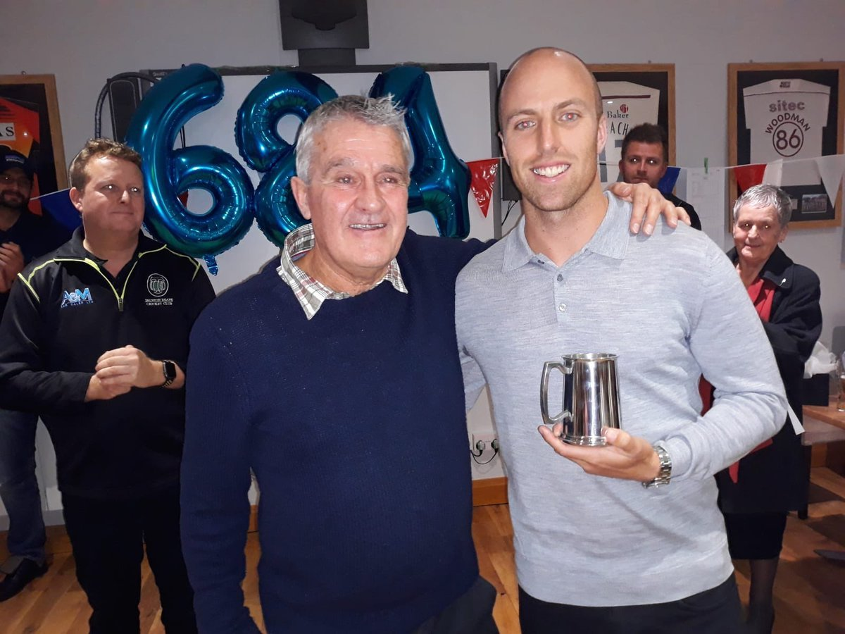 WELCOME HOME: Jack Leach (right) with Taunton Deane stalwart Dave Stephenson