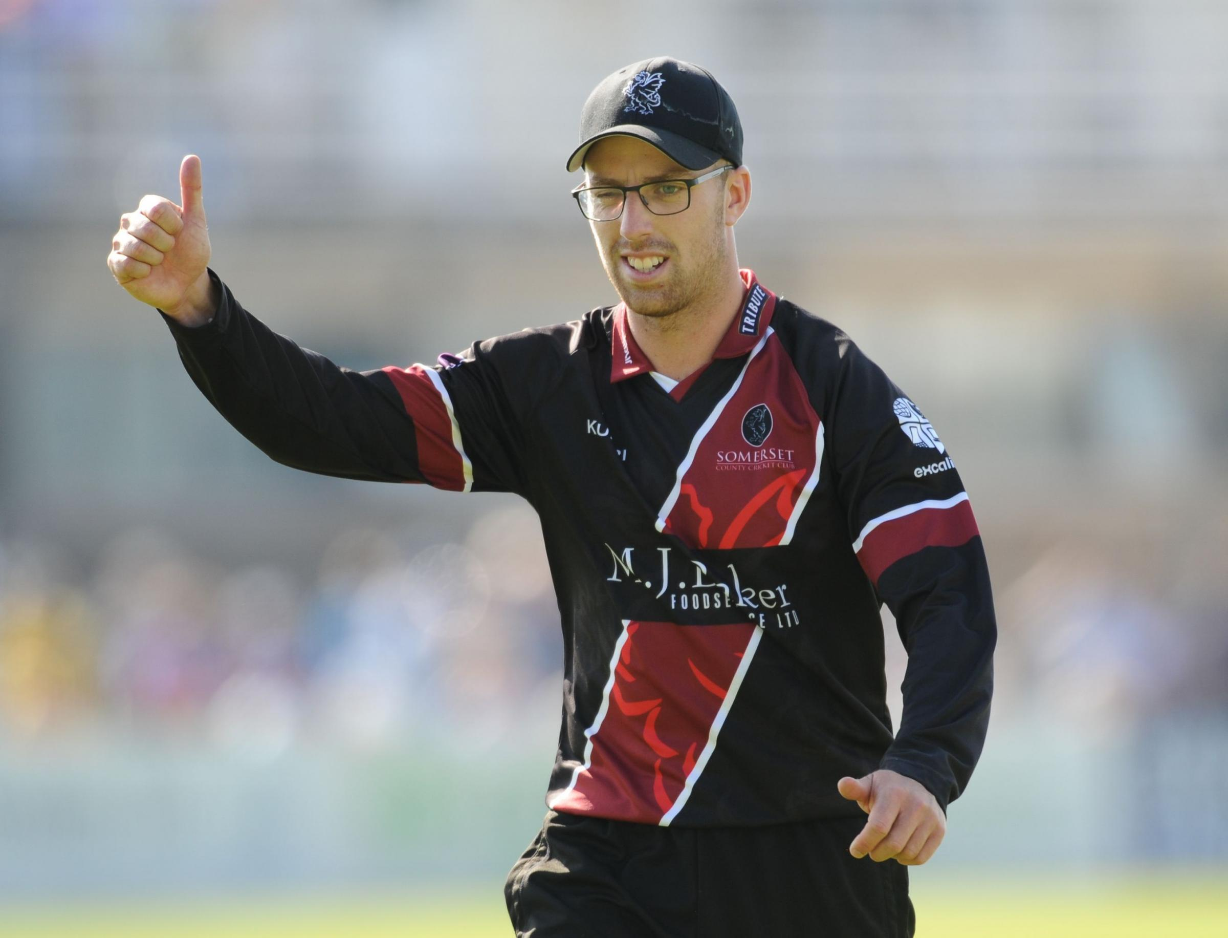 SIDELINED: Jack Leach has not played a white ball match for Somerset since 2015