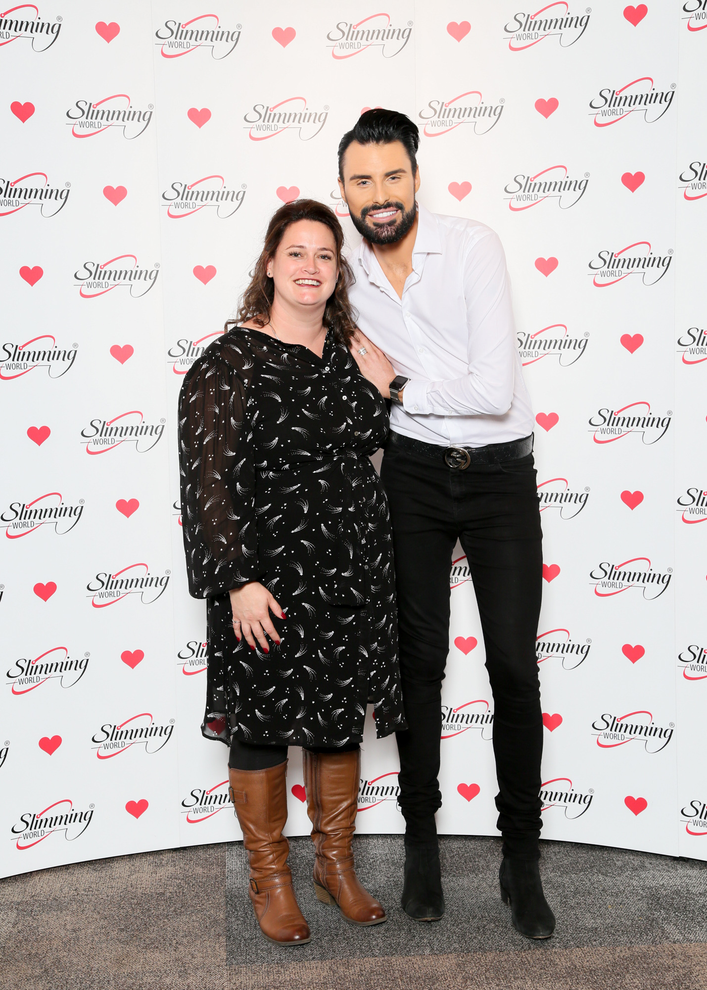 CELEBRITY BACKING: Becs with Rylan at the bash