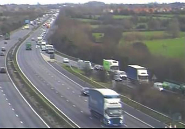 TRAFFIC: The crash further south is causing delays in Somerset