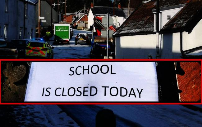 Somerset schools closing due to snow and ice weather warning