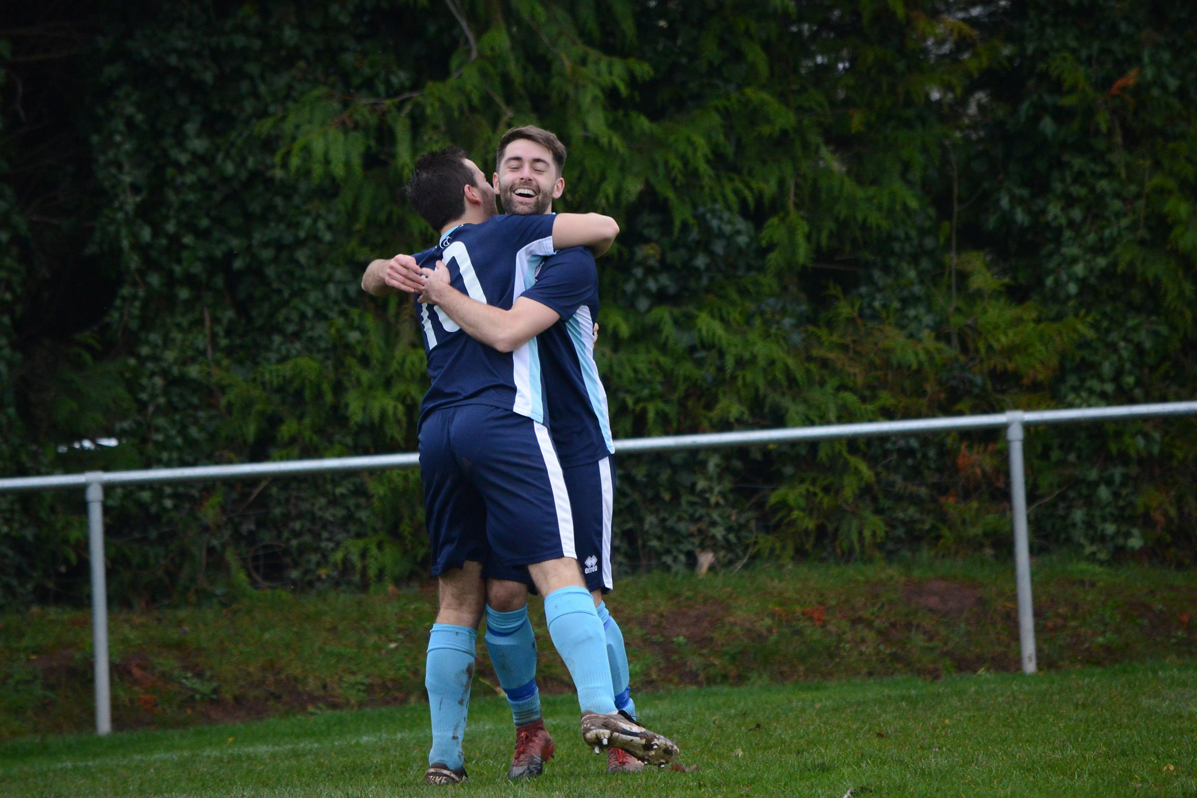 Bishops Lydeard play Chard Town at Cothelstone Road. Pictured Chard�s Max Westlake scores.