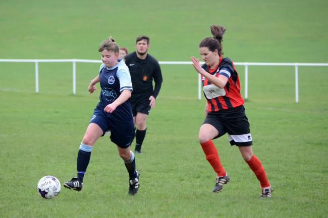 NEW CENTRE: Ilminster Town Ladies' Maisie Parker (left)