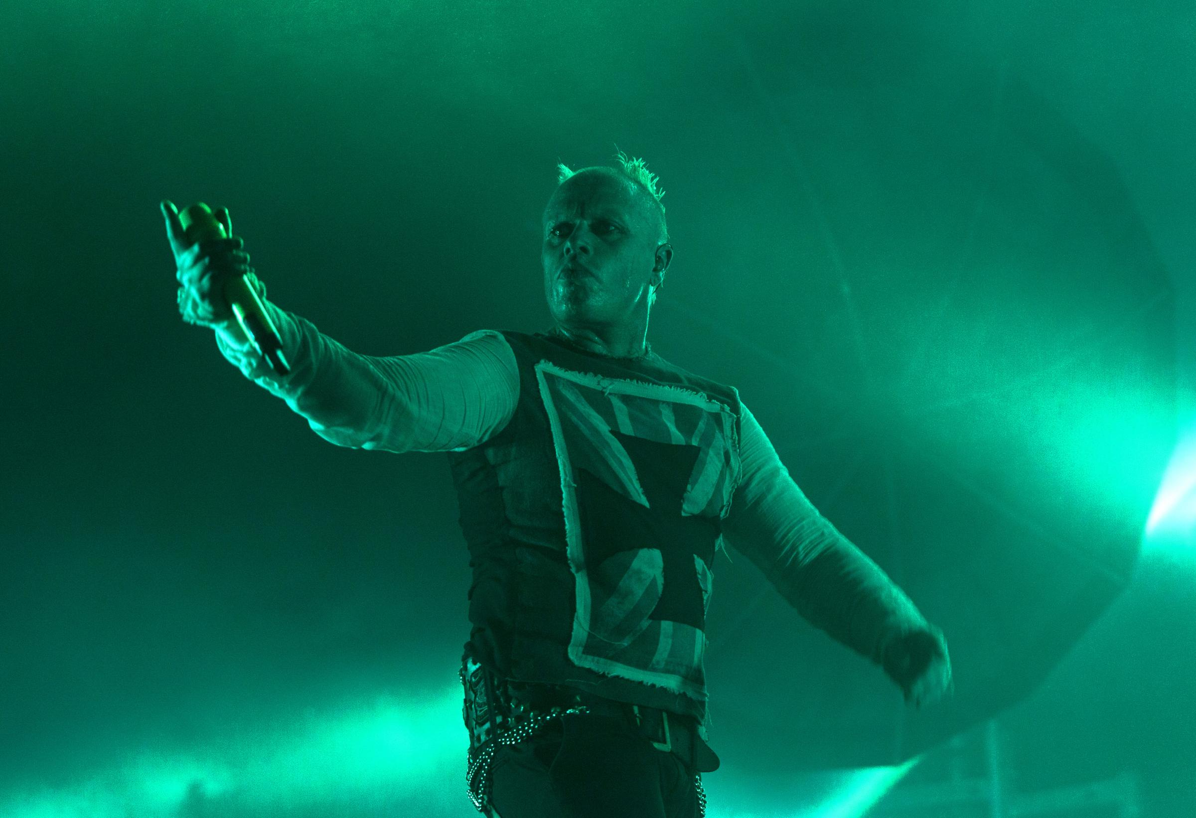 TRIBUTES: Keith Flint of the Prodigy during a show at the Isle of Wight Festival