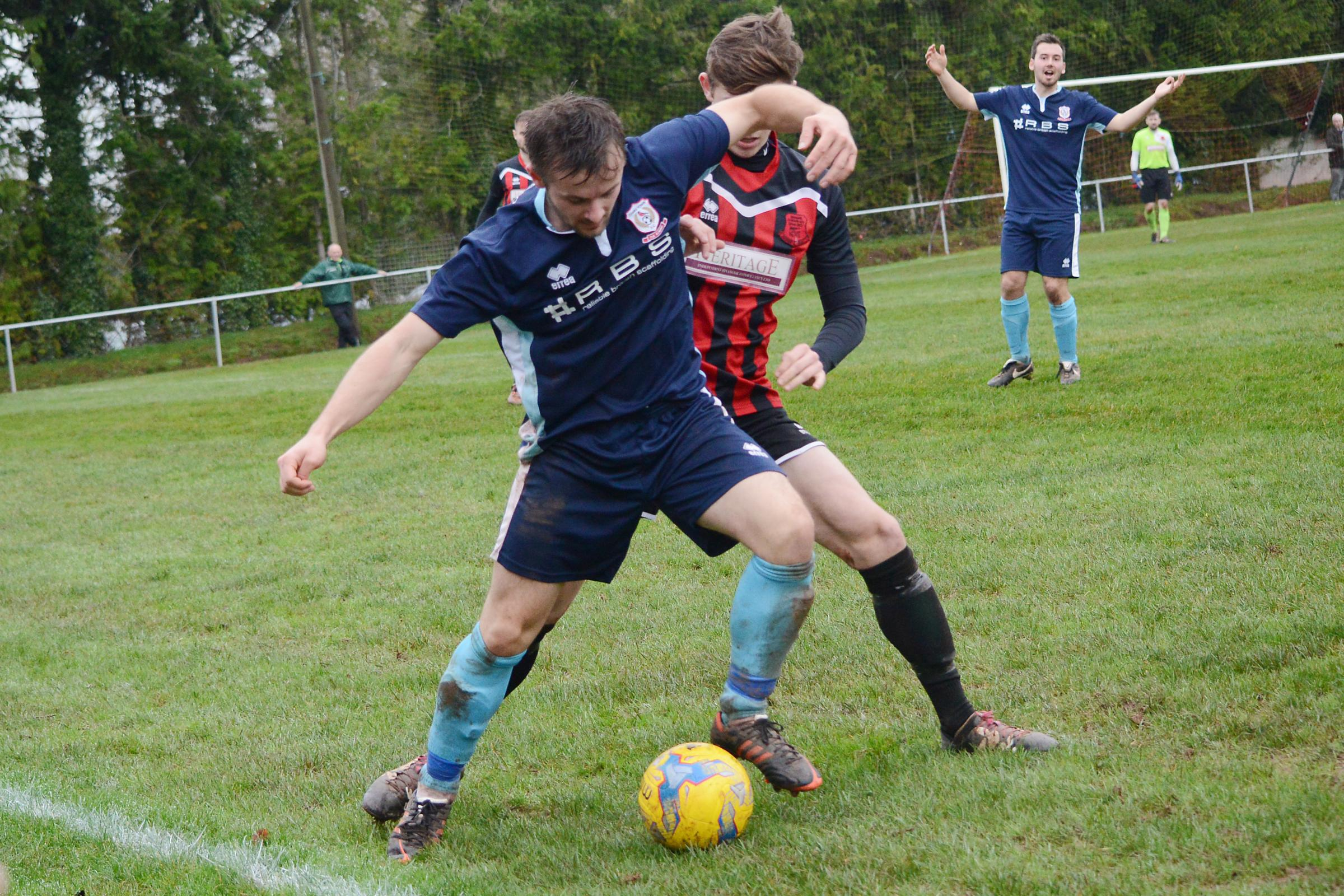 AWAY LOSS: Chard Town came unstuck against Longwell Green Sports. Pic: Aisling Magill