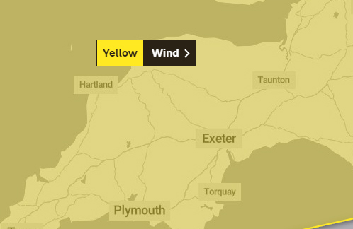 WARNING: The yellow weather warning covers much of the UK
