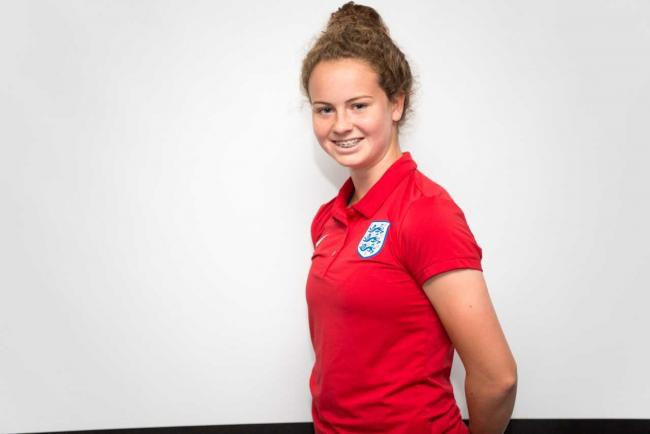 England Under-19 footballer Emily Syme. Pic: The FA/Wonderhatch