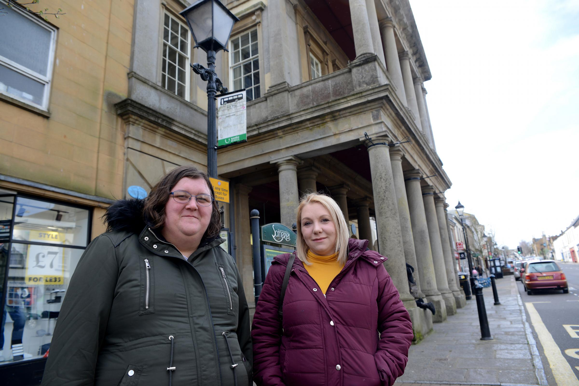 Local resident Faye Mitchell with Melissa Whittaker-Mather are dissapointed with the response they have had from the County Council after submitting a petition for a better bus service.