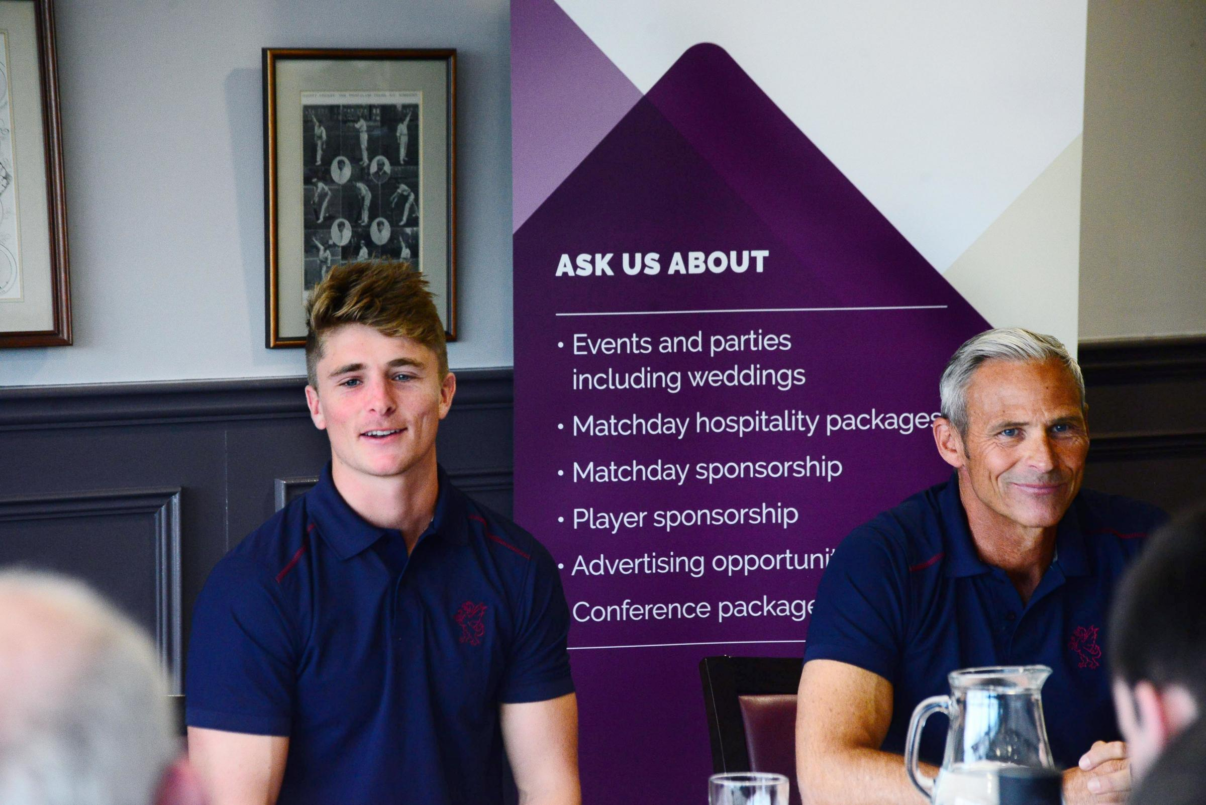 OPTIMISTIC: Tom Abell and Andy Hurry address the media at Somerset's press day on Tuesday. Pic: Steve Richardson