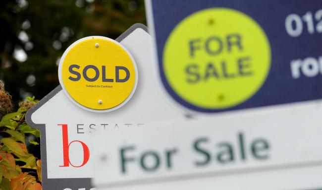 PRICES FALL: House prices fell by 1.6% month-on-month in March following a huge 6% jump in February, figures show. Picture- Andrew Matthews/PA Wire