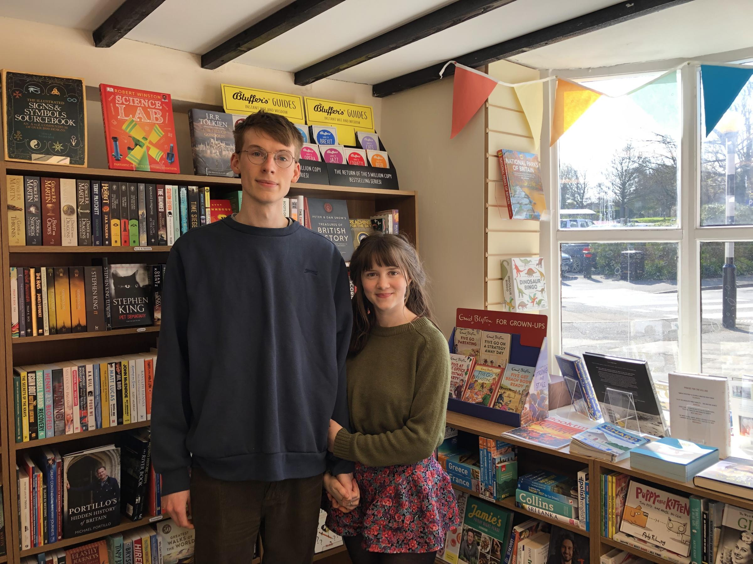 OWNERS: Ryan Whittaker and Stevie Kesham at Chard Bookshop