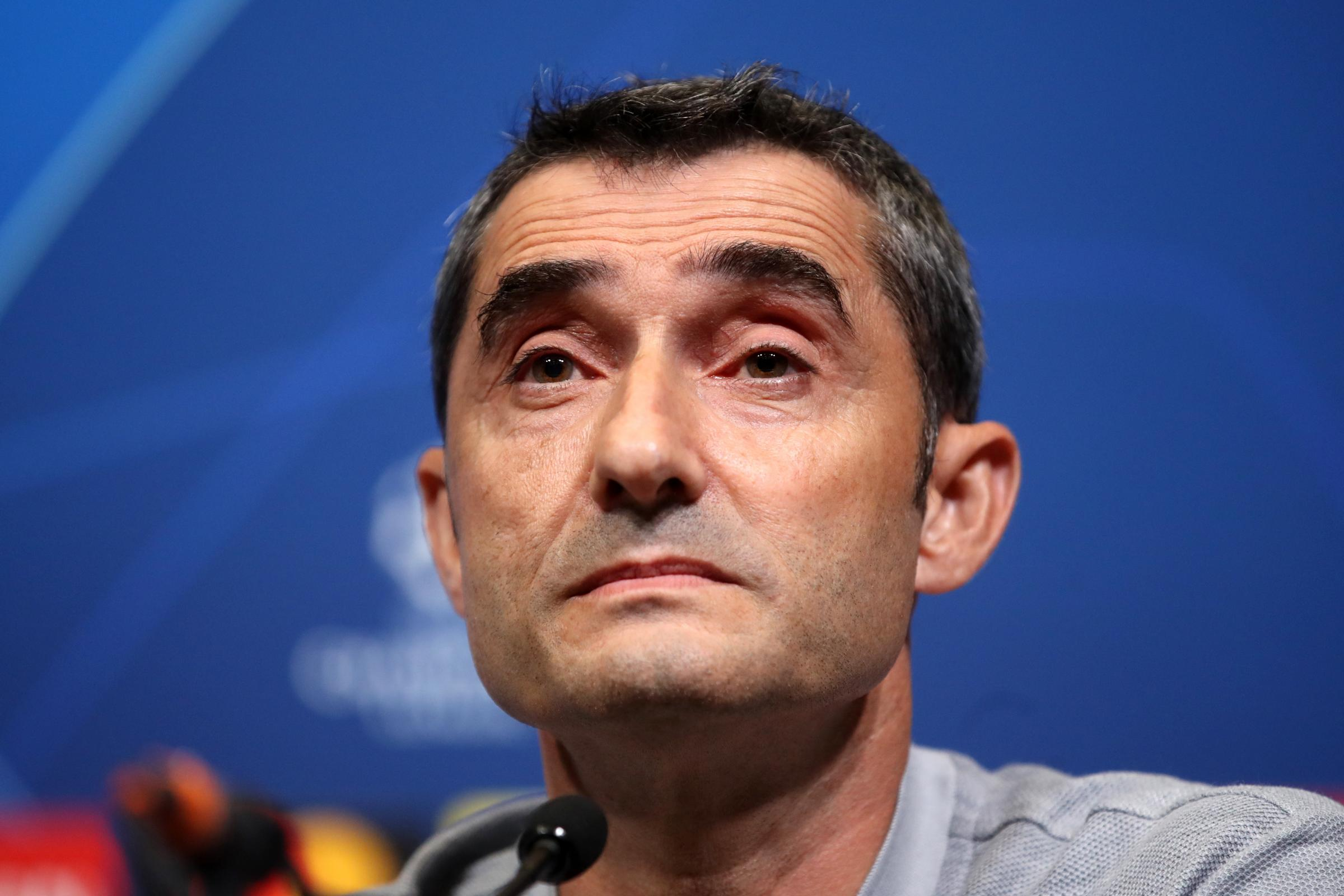 Ernesto Valverde is chasing a treble with Barcelona