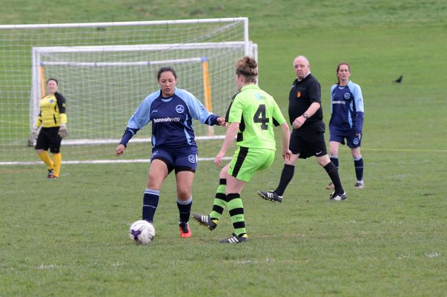STRIKE: Graziely Esperanca, who scored a superb goal for Ilminster Town Ladies at Callington.