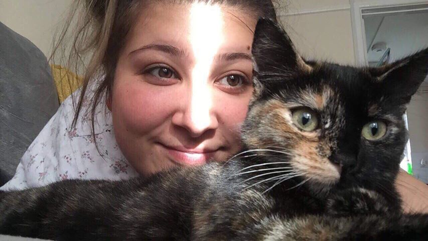 Melissa Mather of Chard with her cat Nala, which was hit by a car