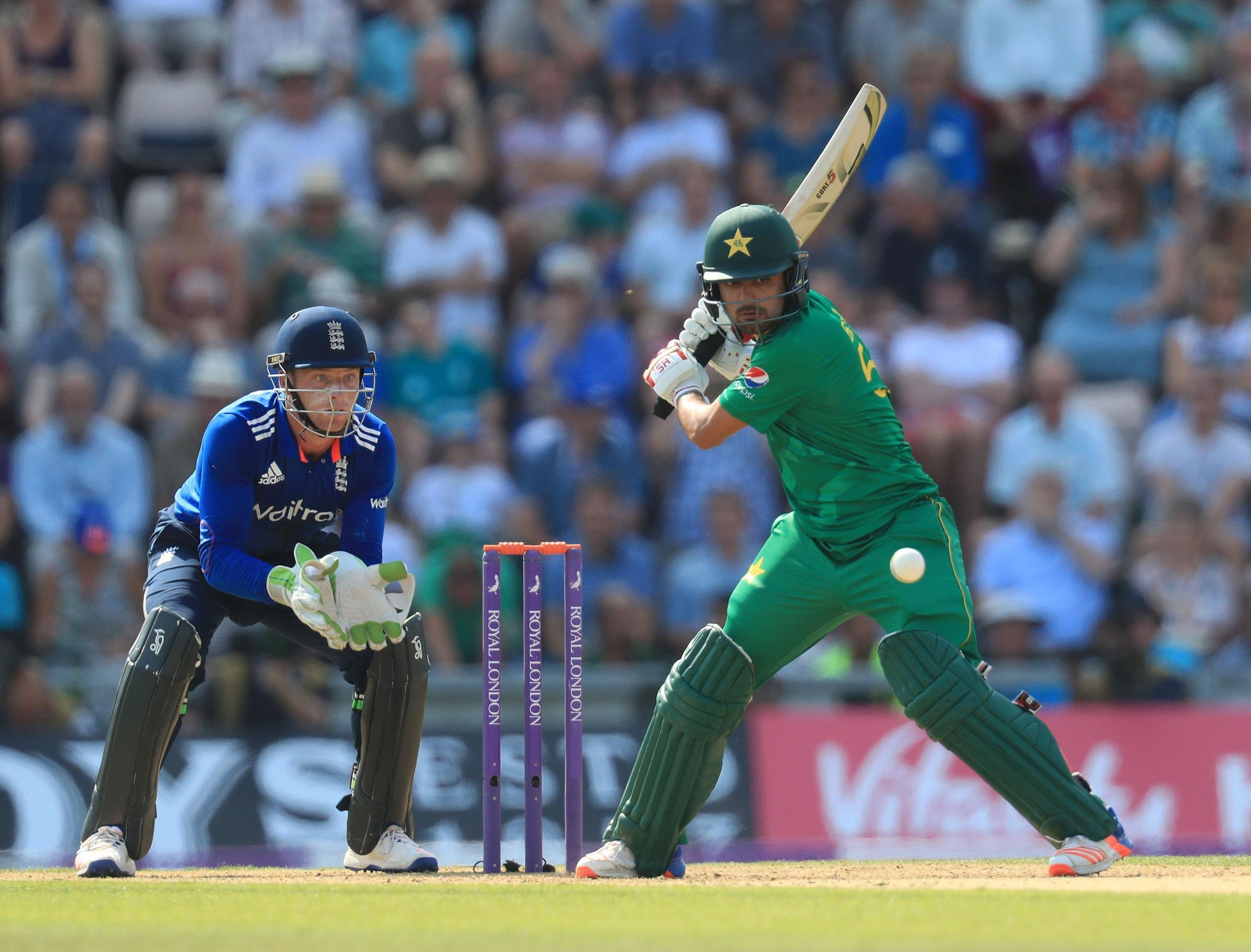 NEW MAN: Pakistan's Babar Azam in action against England. Pic: PA Wire