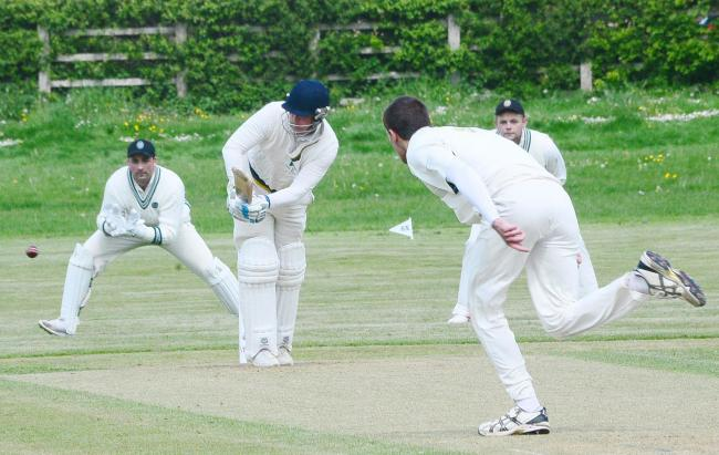 TOP SCORE: Ilminster batsman Louis Kraucamp. Pic: Steve Richardson