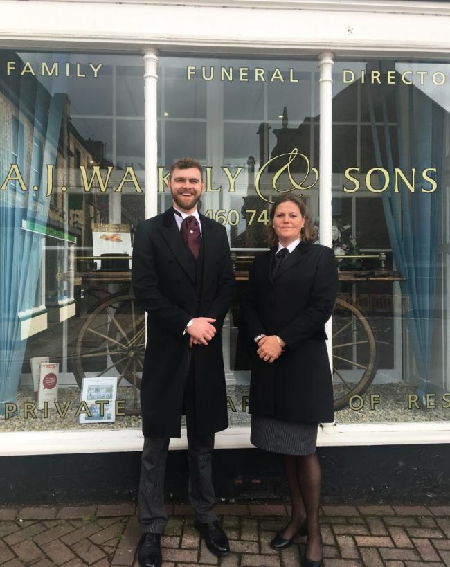 PROUD: Richard and Leah Wakely have both completed their diplomas in funeral arranging recently
