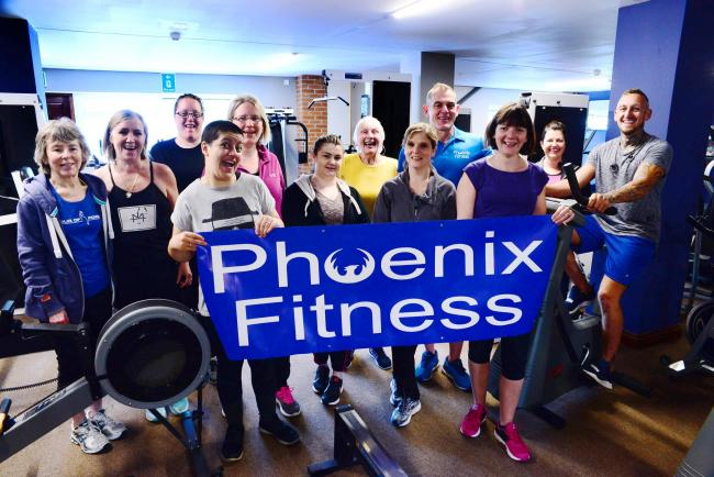 AWARD BOOST: Phoenix Fitness members celebrate the nomination
