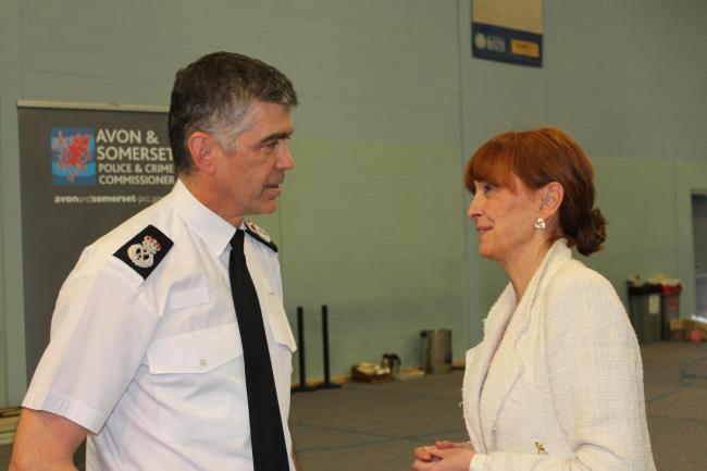 PROJECT: Chief Constable Andy Marsh and Police Crime Commissioner Sue Mountstevens