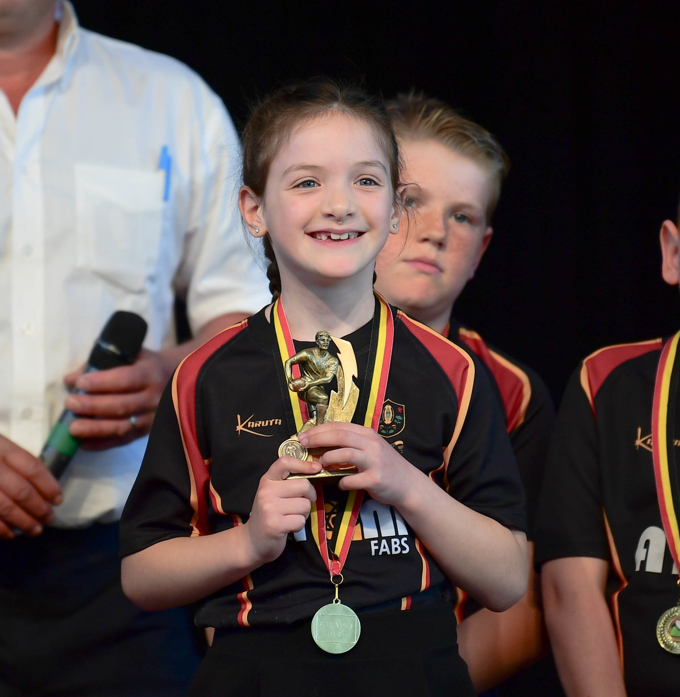 DELIGHT: Londyn Welch, Under-8s most improved. All pics: Gary Bide Photography