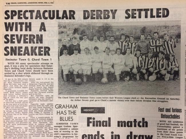 LONG WAIT: Chard Town and Ilminster Town last played each other in a competitive fixture in the 1981/82 season.