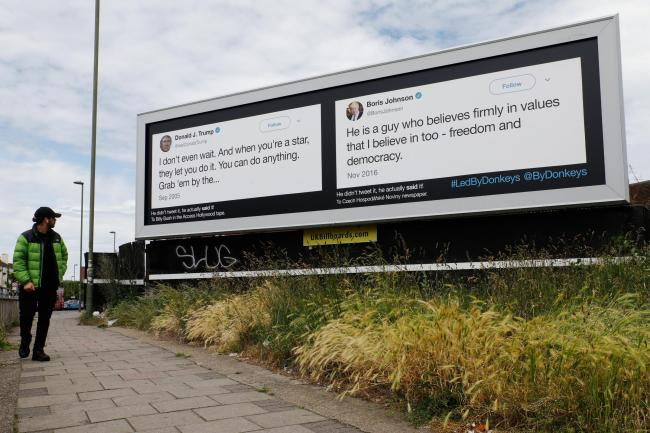 One of the billboards put up this week by Led By Donkeys
