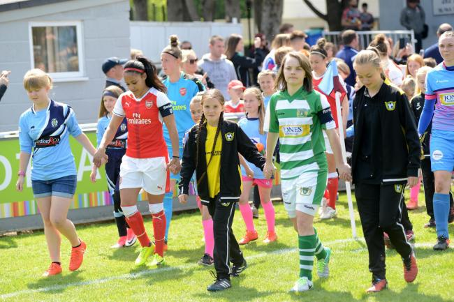 RETURN: Yeovil versus Arsenal at Taunton Town FC's ground in 2017 (pic: Aisling Magill)